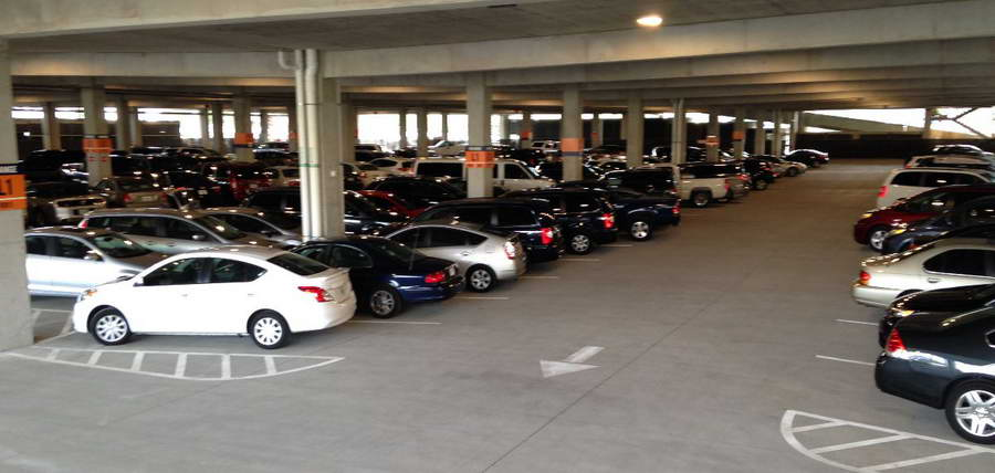 parking garages The parking division, organizationally located in the public works department, oversees the operation of all city garages and parking lots.